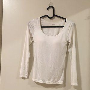 Uniqlo Heattech Scoop Shirt (with built in bra)